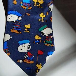 Snoopy & Peanuts Golf Theme Necktie
